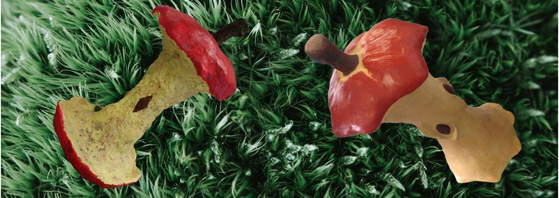 Æbleskrog - skulptur i dekorationsbeton