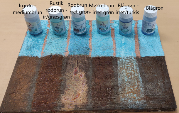patineringssæt i irret  kobber og rust effekt maling