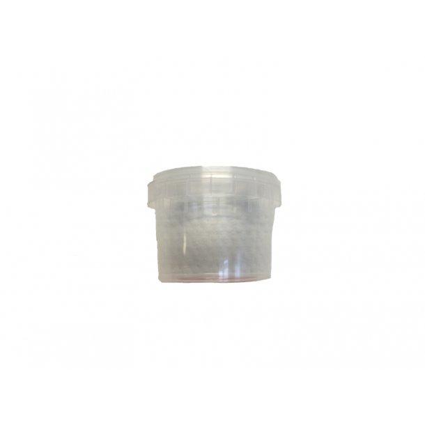 Liten plastburk med lock 120 ml