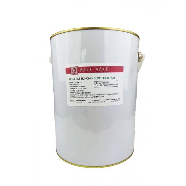 Flytande silikon - Mjuk A15 1 kg